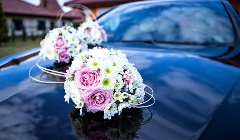 Wedding Flowers On Car
